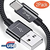 Ulinek Lot de 2 Câble USB C 2M Charge Rapide【CERTIFIÉ】Câble USB Type C en Nylon Tressé pour...
