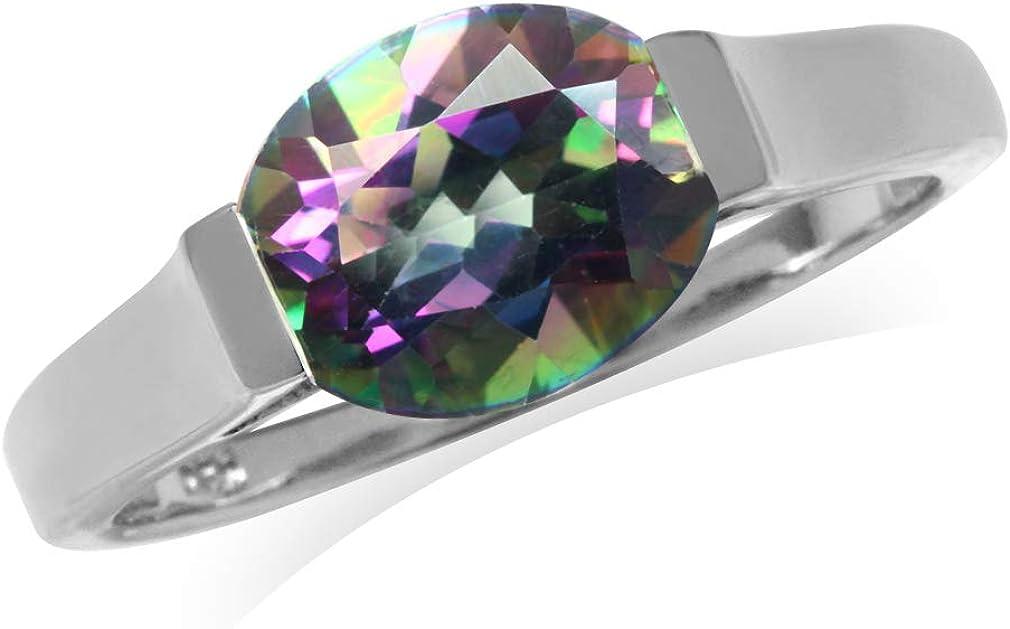 Silvershake 10X8mm Washington Mall Oval Shape Gemstones 2021new shipping free Soli Sterling Silver 925