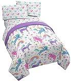 Unicorn Rainbow 4 Piece Twin Bed Set - Includes Comforter & Sheet Set - Super Soft Fade Resistant Microfiber