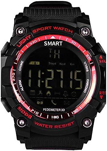 Lemumu Nouveau sport EX16 Smart Smart Smart Bracele Bracelet   montre   Activité TrackerLong   Veille podomètres   Réveil à distance Tracking, rouge