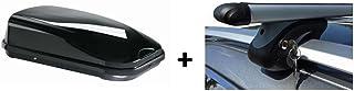 VDP Dachbox JUFL320 Relingträger Alu kompatibel mit Mercedes C Klasse Kombi S204 07 14 Schloss