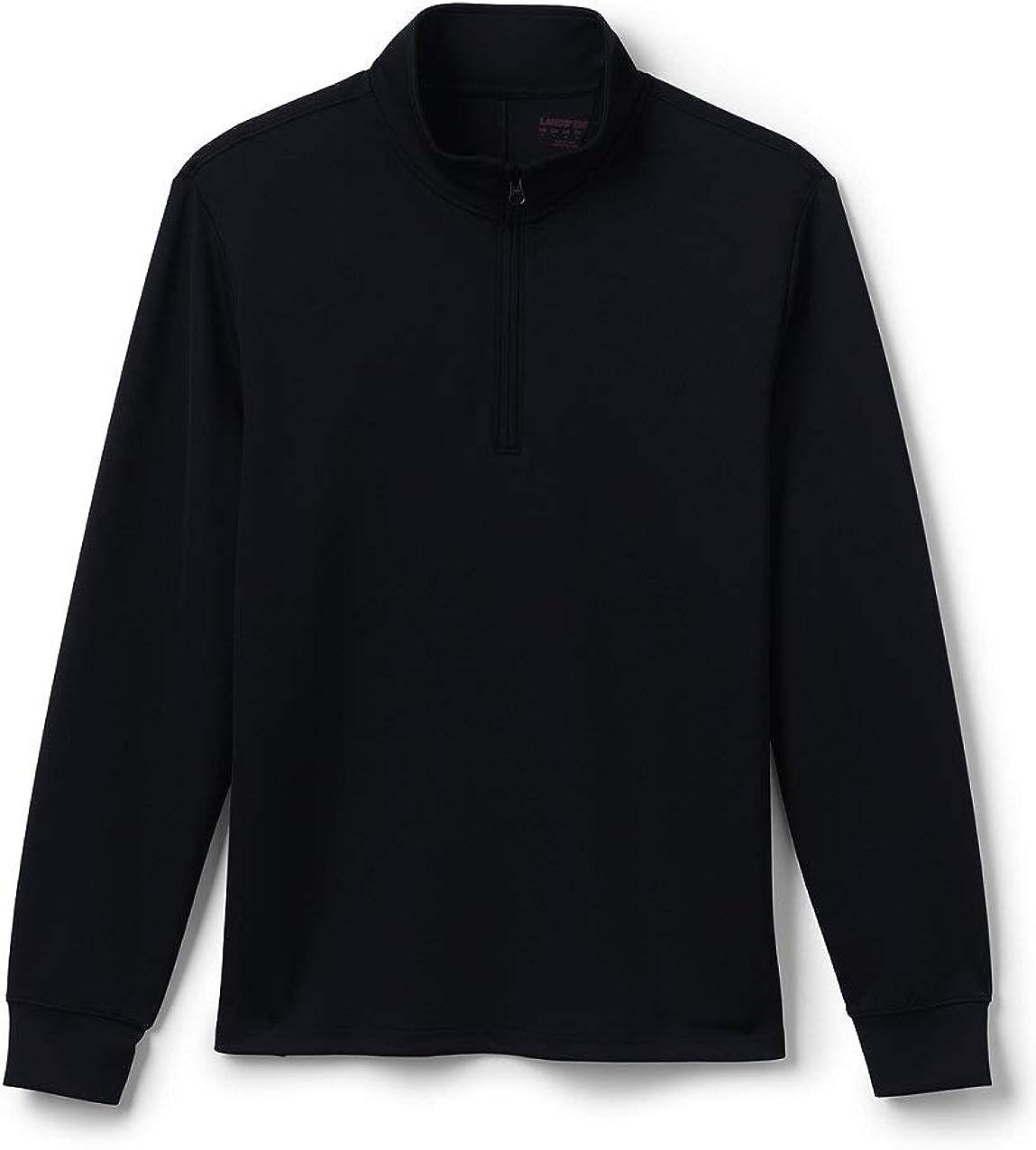 Lands' End School Uniform Men's Quarter Zip Pullover