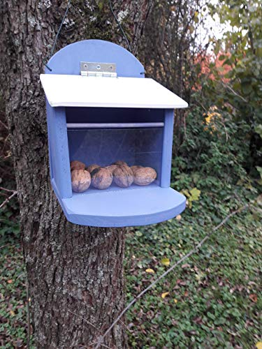 Eichhörnchen Futterstation Futterhaus Futterkasten friesenblau