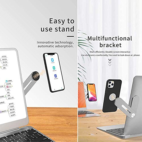 Magnetic Cellphone Mount Mobile Phone Expansion Stand Fixed Clip On Flat and Slim Monitor Or Laptop Monitor Safty Cellphone Stand for iPhone Smartphone Cellphone Fixed Flat and Slim Portable