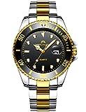 Herren Uhren Männer Wasserdicht Gold Edelstahl Groß Armbanduhr Sport Business Mode Design Kleid...