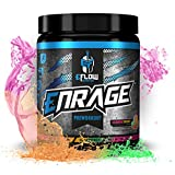 eFlow Nutrition ENRAGE Pre Workout Supplement with Creatine, Beta Alanine, Citrulline, Agmatine - Preworkout Powder to Boost Energy, Pumps, and Strength - Rainbow Sherbert (30 Servings)