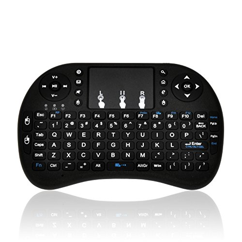 MWK08 Mini Wireless Keyboard. 2.4GHz rechargable multimedia Keyboard/remote with touchpad for PC, Pad, Android TV Box, Google TV Box, Kodi/XBMC, Xbox360, PS3 & HTPC IPTV
