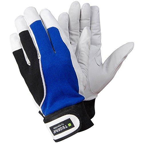 Ejendals Lederhandschuh Tegera 13, Größe 7, 1 Stück, blau/weiß/schwarz, 13-7