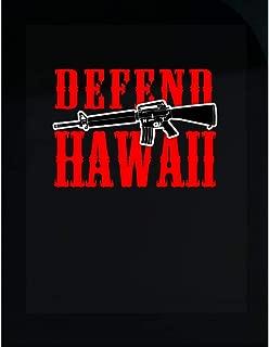Hawaiian Themed Gifts Defend Hawaii Gun Lover Gifts - Transparent Sticker