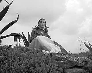 ClassicPix Photo Print 8x10: Frida Kahlo (Senora Diego Rivera) Seated Next to an Agave Plant.