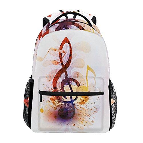 COOSUN Abstract Music Note casual Daypack sacchetto di scuola dello zaino di viaggio Multicolore