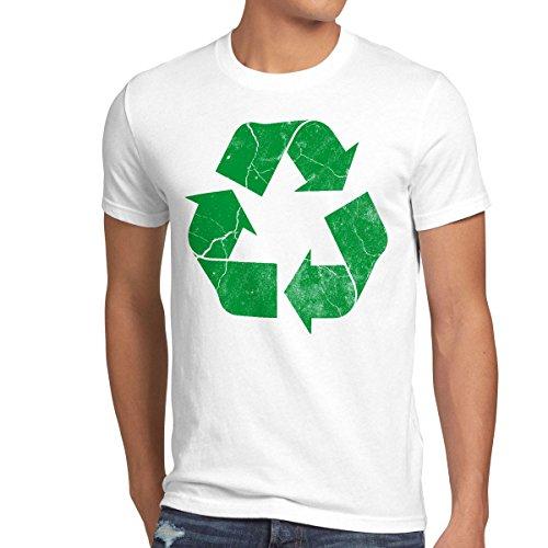 style3 Reciclado Camiseta para Hombre T-Shirt Leonard, Talla:3XL;Color:Blanco