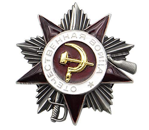 JXS Réplica de la Insignia Militar soviética, Medalla de Guerra Patriótica de la Segunda Clase Soviética de la Segunda Clase, Medalla Militar de Material de Aleación