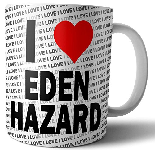 I Love Eden Hazard - Thee - Koffie - Mok - Beker - Verjaardag - Kerstmis - Gift