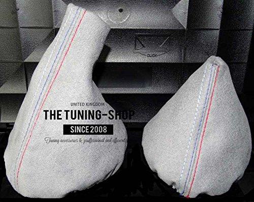 Para BMW E36E461991–2005Manual Gris Alcantara Gear & para freno de mano con costura de MPOWER