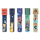 MiDeer 5Pack Classic Paper Kaleidoscopes for Kids Age 3-5 Party Toys, 90s Educational Toys for Children, Premium Kids Crafts Birthday Gift for Boys & Girls(Circus,Princess,Forest,Moon and Sailor)