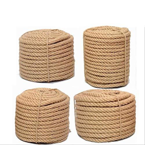 FMXKSW Cuerda de cáñamo, Cuerda de Yute Natural de 1 mm-16 mm, jardinería,decoración, Hilo de cáñamo Ambiental para Bricolaje Decoración de la Tienda para lámparas de Cesta Hechas a Mano,
