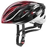 uvex Boss Race Casco de Bicicleta, Adultos Unisex, Black Red, 52-56 cm