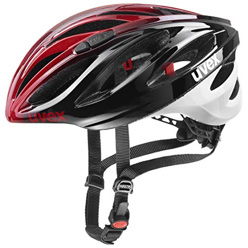 Uvex Boss Race Casco, Hombre, Carbono/Blanco, 55-60 cm