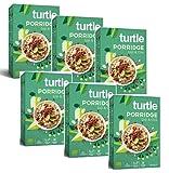 Turtle Cereals Gachas de avena orgánicas sin gluten con bayas de Goji, morera blanca y semillas de chía - 6 x 400 gramos