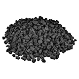 """Mr. Fireglass 10 Pounds Lava Rocks Black Natural Stone Granules for Gas Fire Pit Fireplace & Gas Log Set - Decorative Landscaping Rocks for Indoor and Outdoor Use, 0.4"""" - 0.8"""" Sized"""