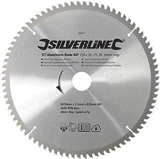 comprar comparacion Silverline 456915 - Disco de TCT para Aluminio, 80 Dientes (250 x 30 - Anillos de 25, 20 y 16 mm)