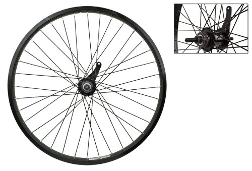 "Wheel Master 24"" Cruiser/Comfort Rear Wheel - Weinmann AS7X Rim, 36H, Coaster Hub, Black"