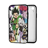 Hisoka Hunter x Hunter Killua Kurapika GON¡¤Freecss Phone Cases for iPhone XR Shell Basic Back Soft Black Cell Mobile Cover Protective Case with TPU+PC Frame