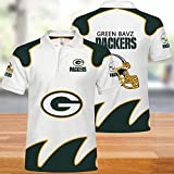 NFL T-Shirts Super Bowl Packers De Green Bay Maillots Football Américain Polo Hommes Chemises pour Hommes Et Femmes-T-Shirt Rugby Football Supporters-Football Fans 4XL