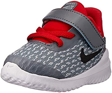 Nike Rival (TDV), Zapatillas de Estar por casa Unisex niños, Multicolor (Cool Grey/Black/University Red 005), 22 EU