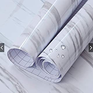 Marble Contact Paper 24'' X 79'' Granite Self-Adhesive Roll Thick Waterproof PVC Practical for Countertop Cabinet Furniture