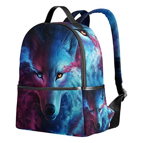 Wolf Artworks Girls Backpacks for Elementary School Cute Bookbag for Kids...