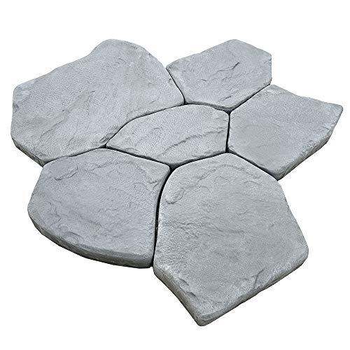 AUTUMN Flagstone Print Mold, Stepping Stone Mold, Stones Mold, Concrete Cement Mold, Garden Decor Mold, Textured Mold for Non-Slip Stepping Stones, Set of 6, Made in USA