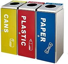 Outdoor Trash Can Stainless Steel Classification Trash Bin, Kitchen, Garden Garbage Disposal Inner Bucket Recycling Bin (C...