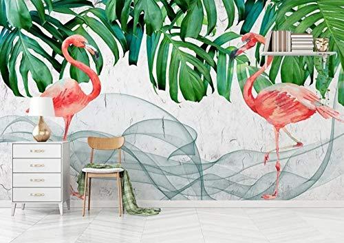 BVCK 3D Stickers Wall Decorations Wallpaper Muralshand Drawn Flamingo Fashionmodern Art Room Background Art Kids Kitchen_(W) 250x(H) 175cm