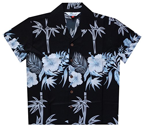 Camisas hawaianas de bambú para niños, playa, Aloha, fiesta, campamento, manga corta, día festivo casual