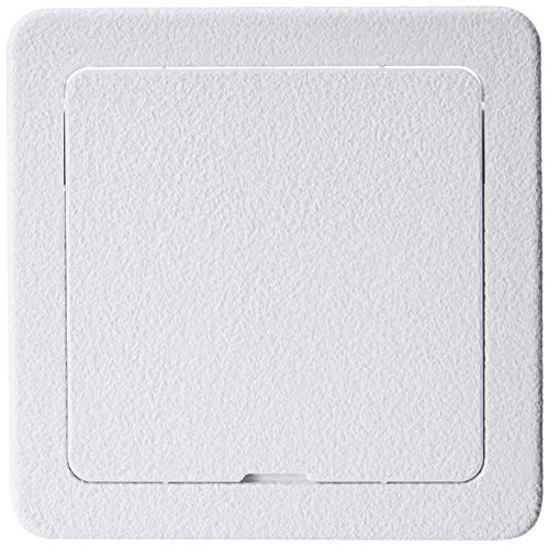 Wallo 4 X 4-Inch Smallest Plastic Access Door, Hinged Access Panel for Drywall Walls and Ceilings. Perfect for Providing Service Area for Plumbing/Wiring Applications and Electrical Access Panels