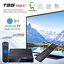 $62 » Apes T95 MAX+ Plus 8K HDR Android 9.0 64GB/4GB DDR3 Bluetooth Dual WiFi Google Assistant TV Box + 2.4GHz USB Air Mouse Voice Remote