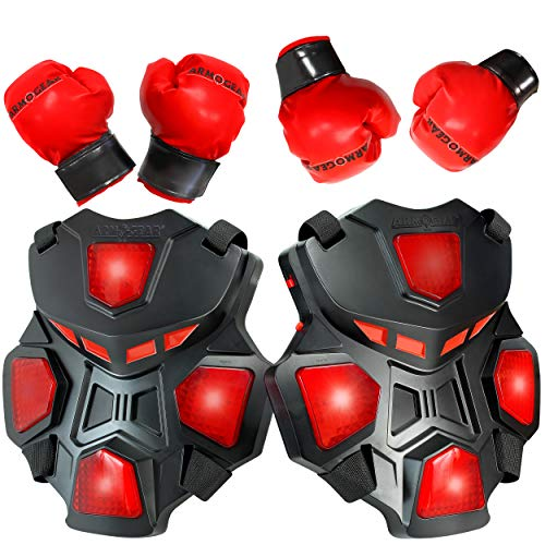 ArmoGear Electronic Boxing Toy for Kids | Interactive Boxing Game with 3 Play Modes, Includes 2 Pairs Boxing Gloves | Cool Toy for Teen Boys | Sports Toy for Kids Boys & Girls, Ages 8 Years +