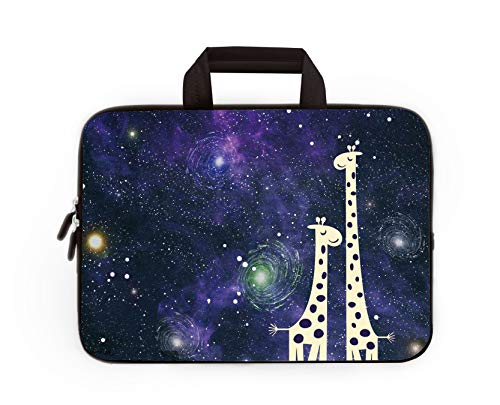 11' 11.6' 12' 12.1' 12.5' inch Laptop Carrying Bag Chromebook Case Notebook Ultrabook Bag Tablet Cover Neoprene Sleeve Fit Apple MacBook Air Samsung Google Acer HP DELL Lenovo Asus (Nice Giraffes)