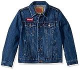 Levi's Boys' Big Denim Trucker Jacket, Pacific/Batwing, M