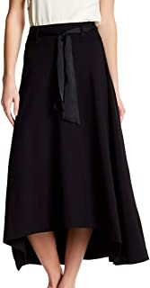 Jag Jeans Womens Skirt Black US Size 8 Meredith High-Low Tie Waist Maxi