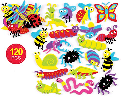 Bak Ross Insect Foam Stickers (Pak van 120) voor kinderen kunst, ambachten en displays