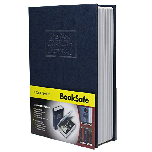 SEPOX - Cassaforte a forma di libro con serratura a chiave