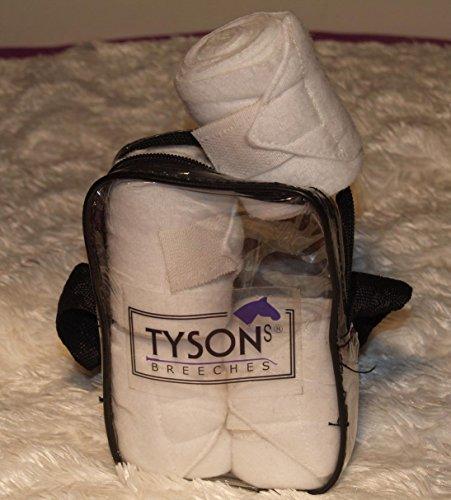 Bandagen Mini Shetty Minishetty Fleece 1 Meter Rosa Hellblau Schwarz Weiss Tysons Minipony Line (Weiss)