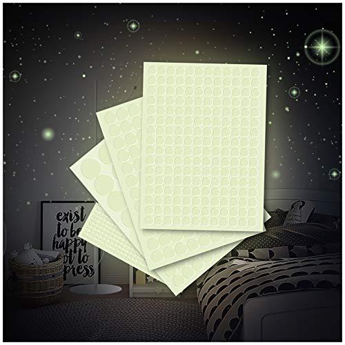 Leuchtfolie 562 Punkte für Sternenhimmel starke Leuchtkraft im Dunkeln Wandsticker Aufkleber selbstklebend fluoreszierend nachtleuchtend (K011 Punkte)