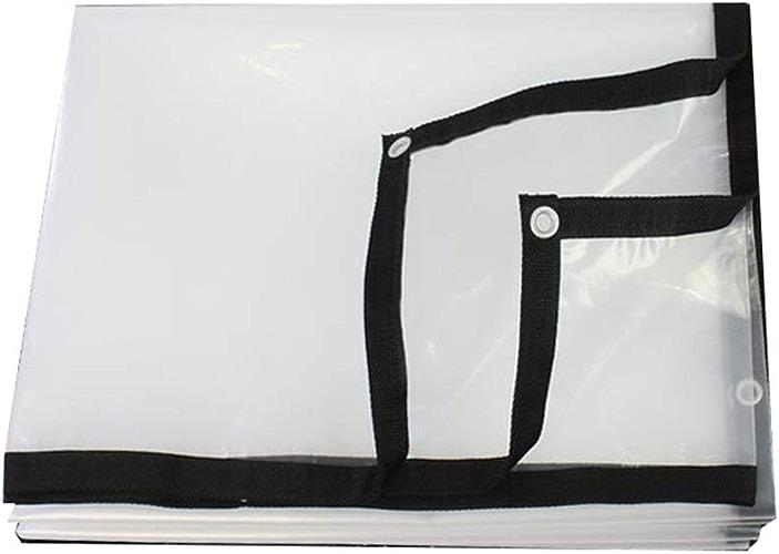 MMADD Bache claireclair bache bache en Plastique Toile de Camion Transparent Huile de Toile de bache Toile de poussière Film Coupe-Vent en Plastique Transparent,3mx10m