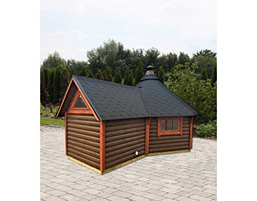 Wolff Finnhaus Grillkota 9 de luxe mit Anbau