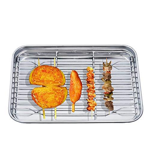 DAYOLY Plaque de cuisson avec grille de refroidissement en acier inoxydable – Sain et non toxique – Finition miroir et passe au lave-vaisselle (M)