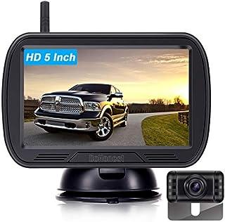 DoHonest HD Digital Wireless Backup Camera System 5 Inch TFT Monitor for Trucks,Cars,SUVs,Pickups,Vans,Campers Front/Rear View Camera Super Night Vision Waterproof Easy Installation - V25